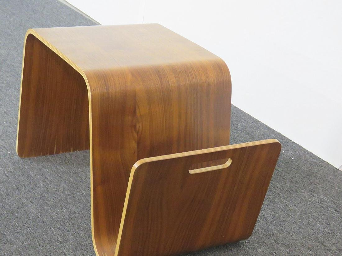 KNOLL STYLE BENTWOOD TABLE MAGAZINE RACK - 3