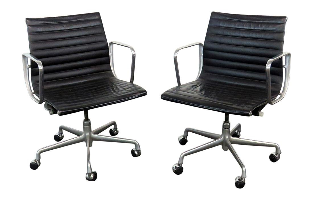 Pair MCM CHROME OFFICE CHAIRS