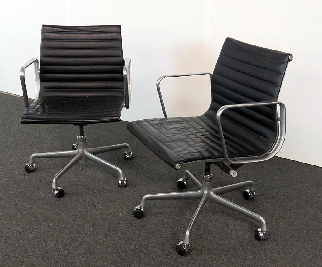 Pair MCM CHROME OFFICE CHAIRS - 2