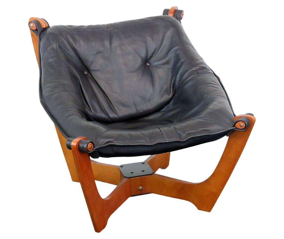 MCM CHAIR WITH LEATHER UPHOLSTERY