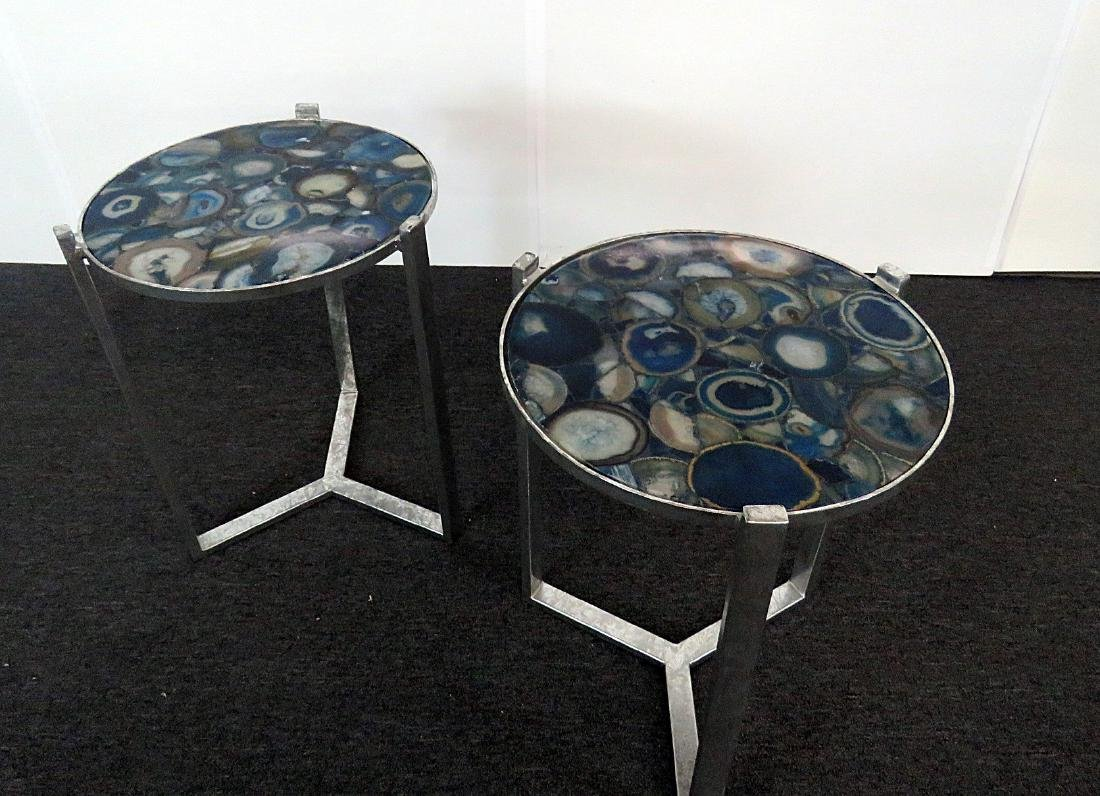 Pair AGATE TABLES - 2
