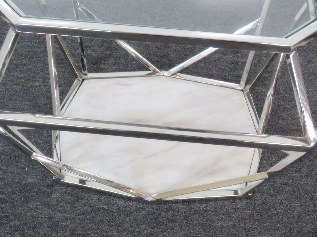 Pair MODERN DESIGN DIAMOND SHAPED END TABLES - 4