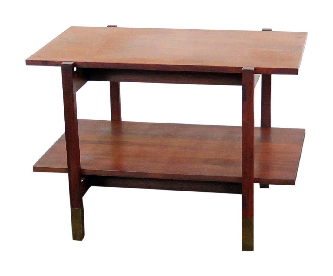 MCM WALNUT END TABLE