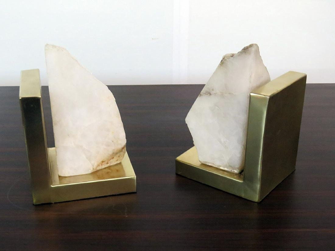 Pair CRYSTALINE BOOKENDS - 2