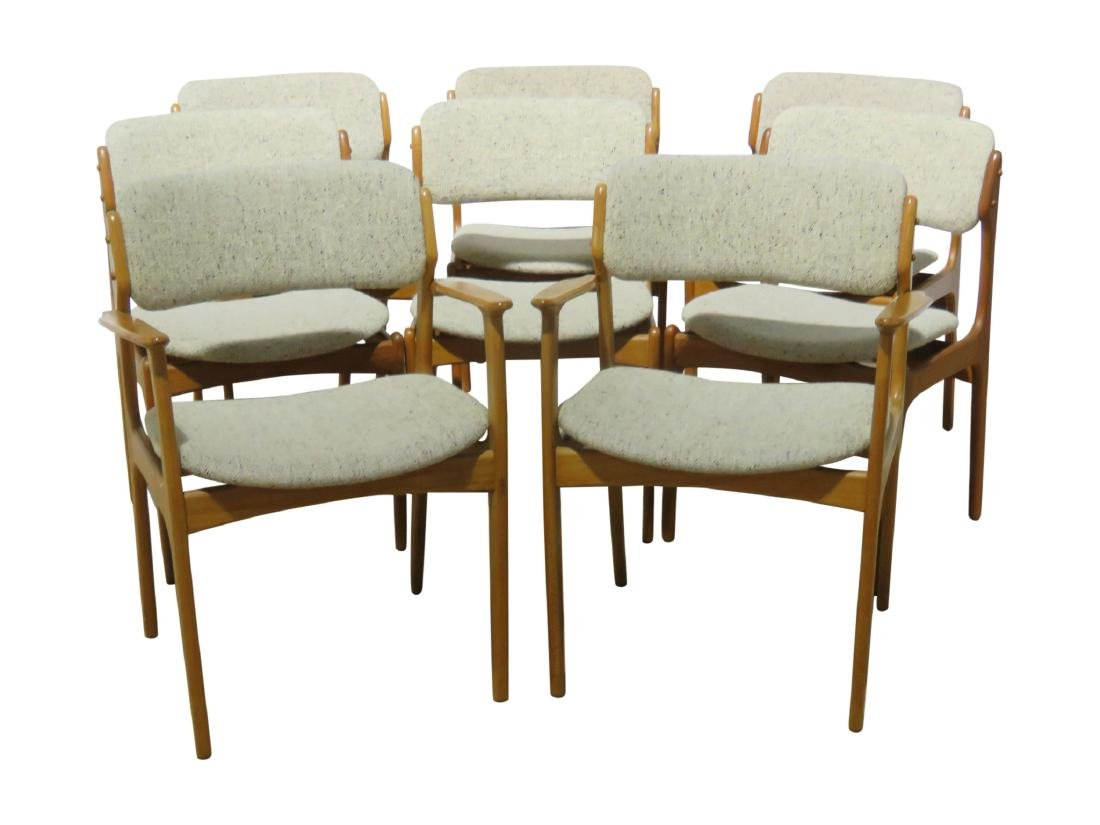 8 MOBLER TEAK CHAIRS