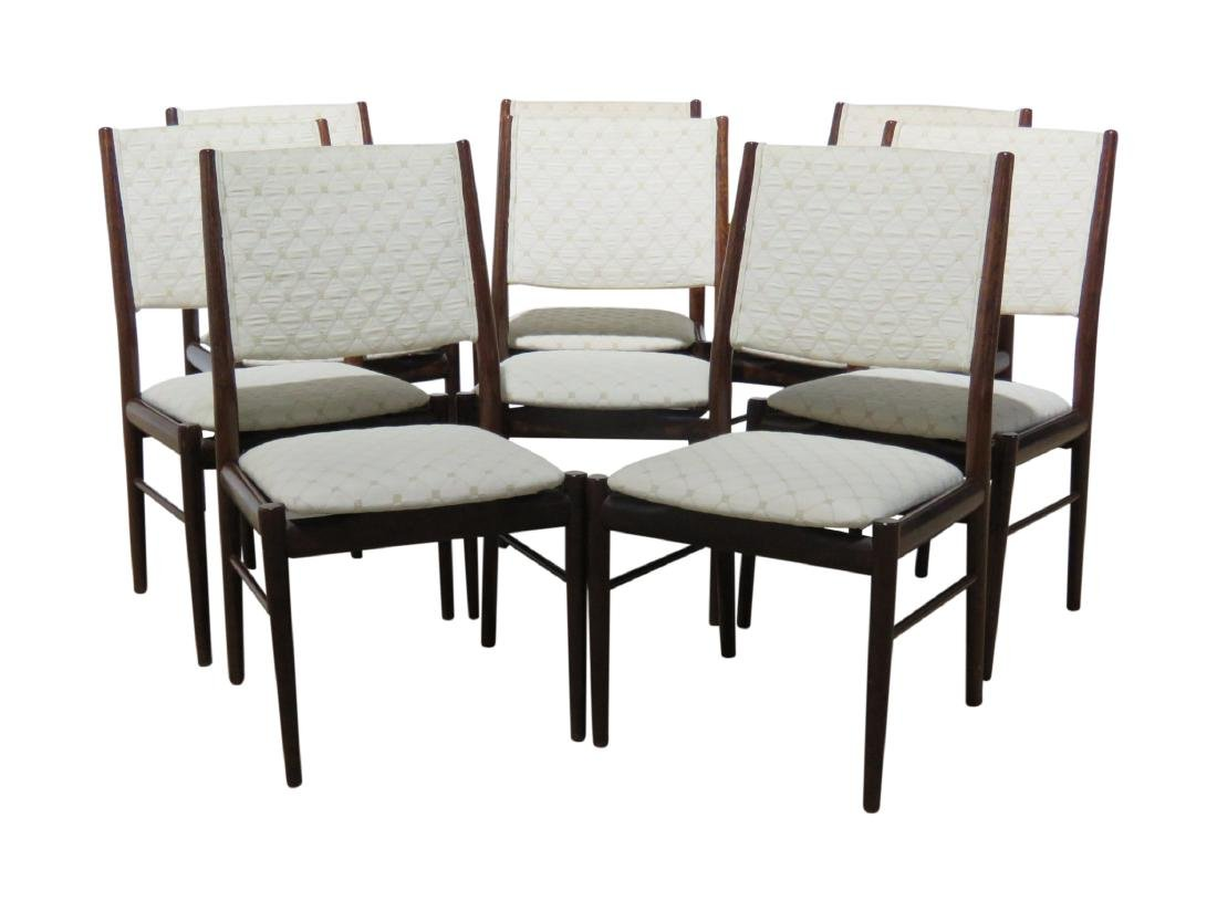 8 SKOVBY ROSEWOOD DINING CHAIRS