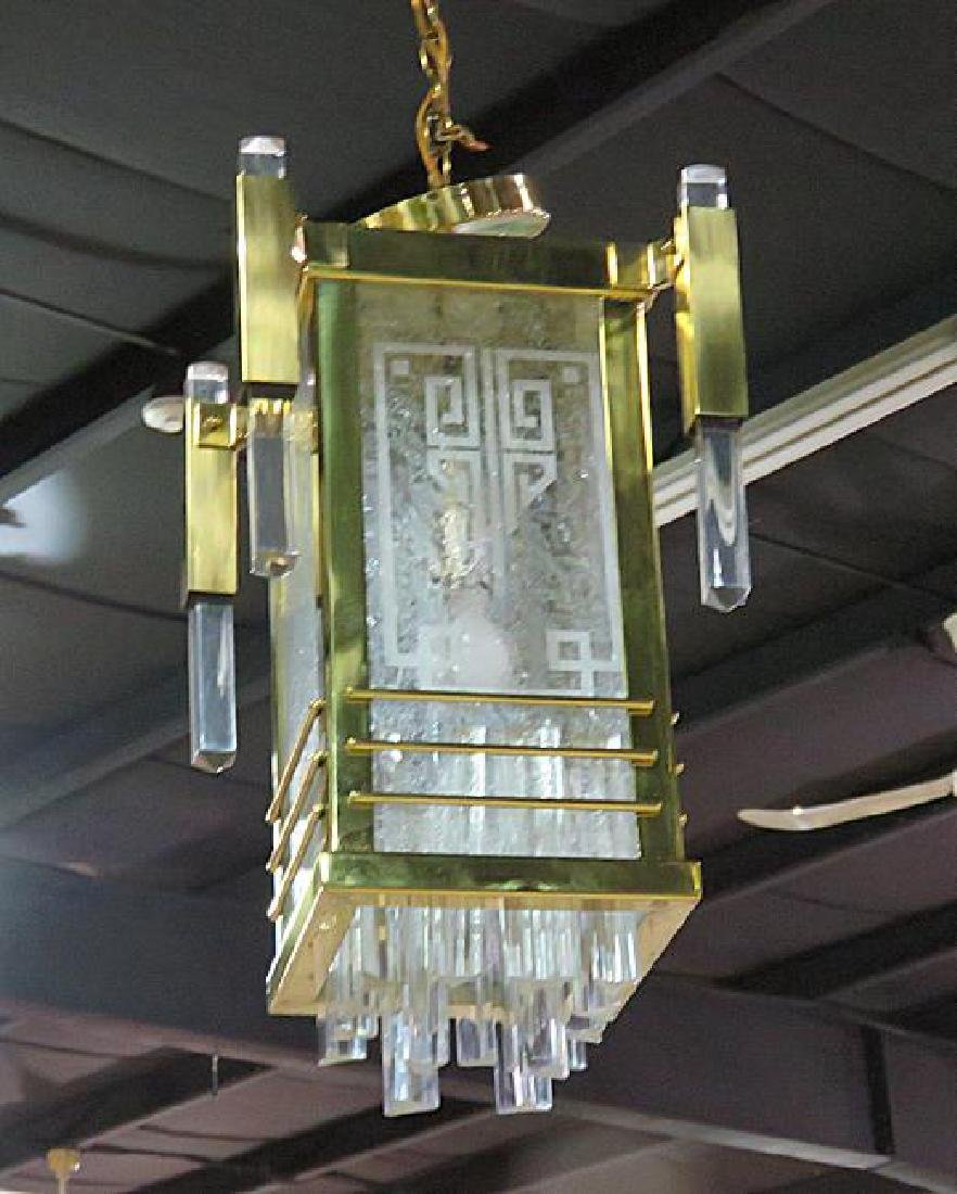 Pair FRENCH DECO CHANDELIERS - 2