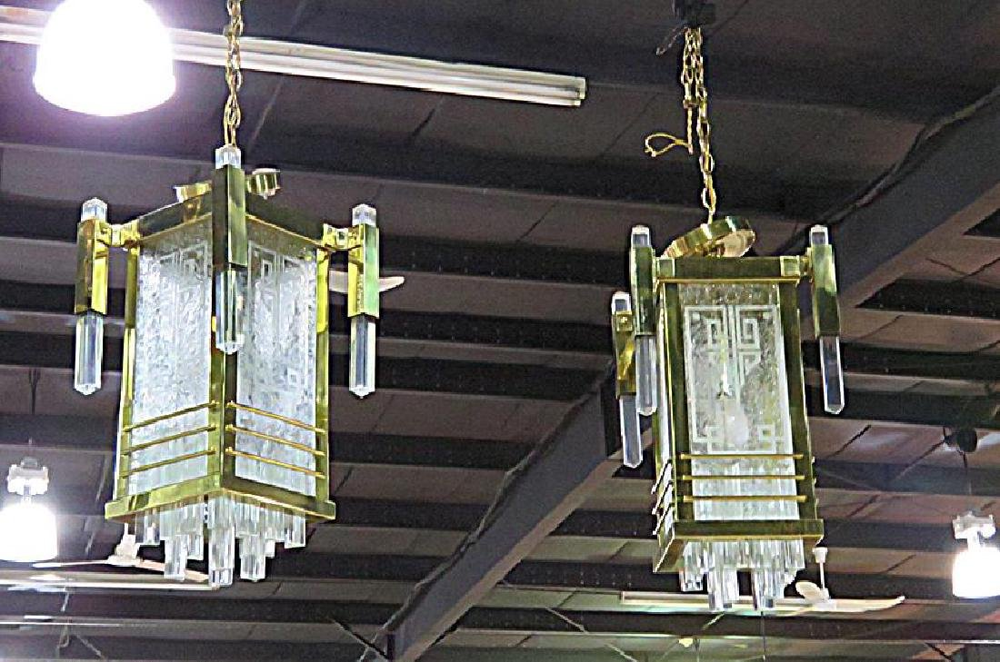 Pair FRENCH DECO CHANDELIERS