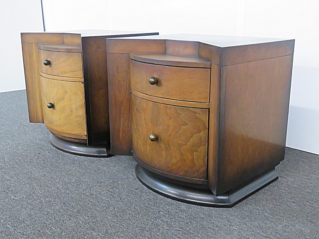 Pair DECO NIGHT STANDS - 2
