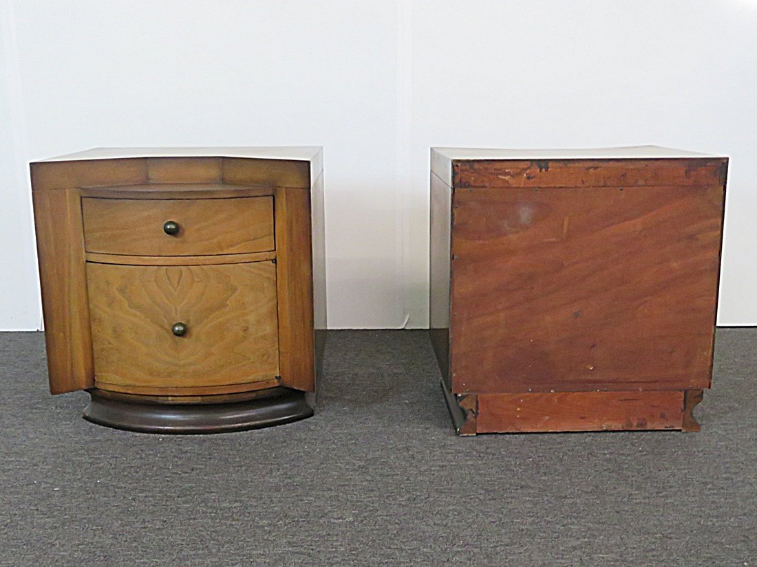 Pair DECO NIGHT STANDS - 6