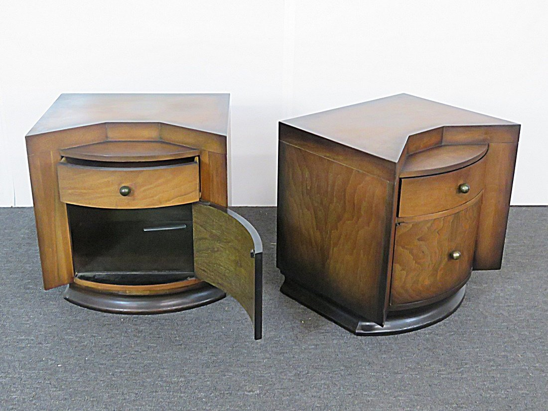 Pair DECO NIGHT STANDS - 7