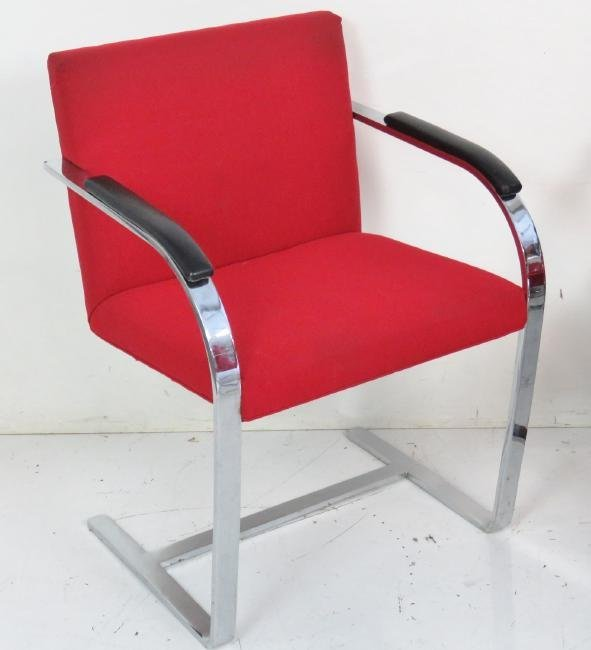 8 BRUNO STYLE CHROME LOUNGE CHAIRS - 2