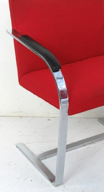 8 BRUNO STYLE CHROME LOUNGE CHAIRS - 3