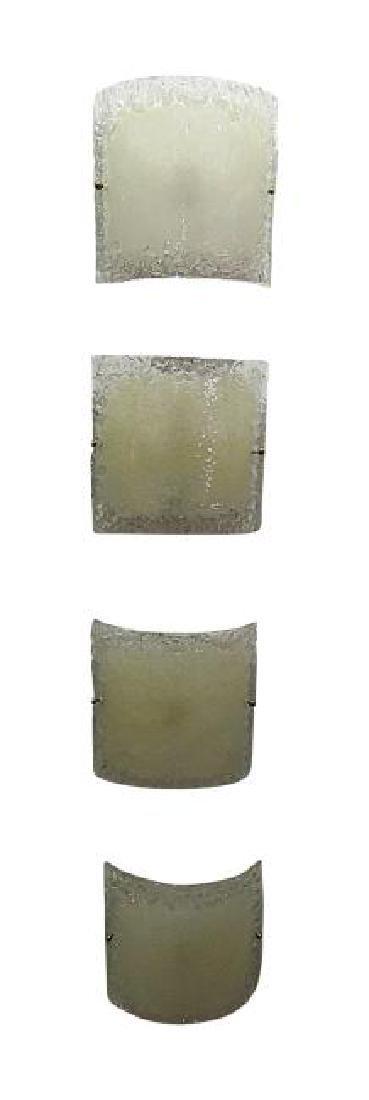 4 MURANO GLASS SCONCES from TRUMP PLAZA