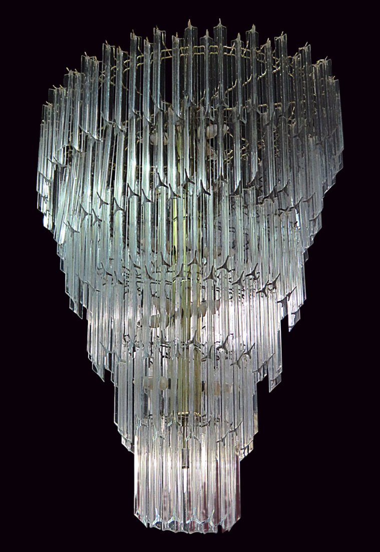 MCM LUCITE PRISM CHANDELIER from TRUMP PLAZA