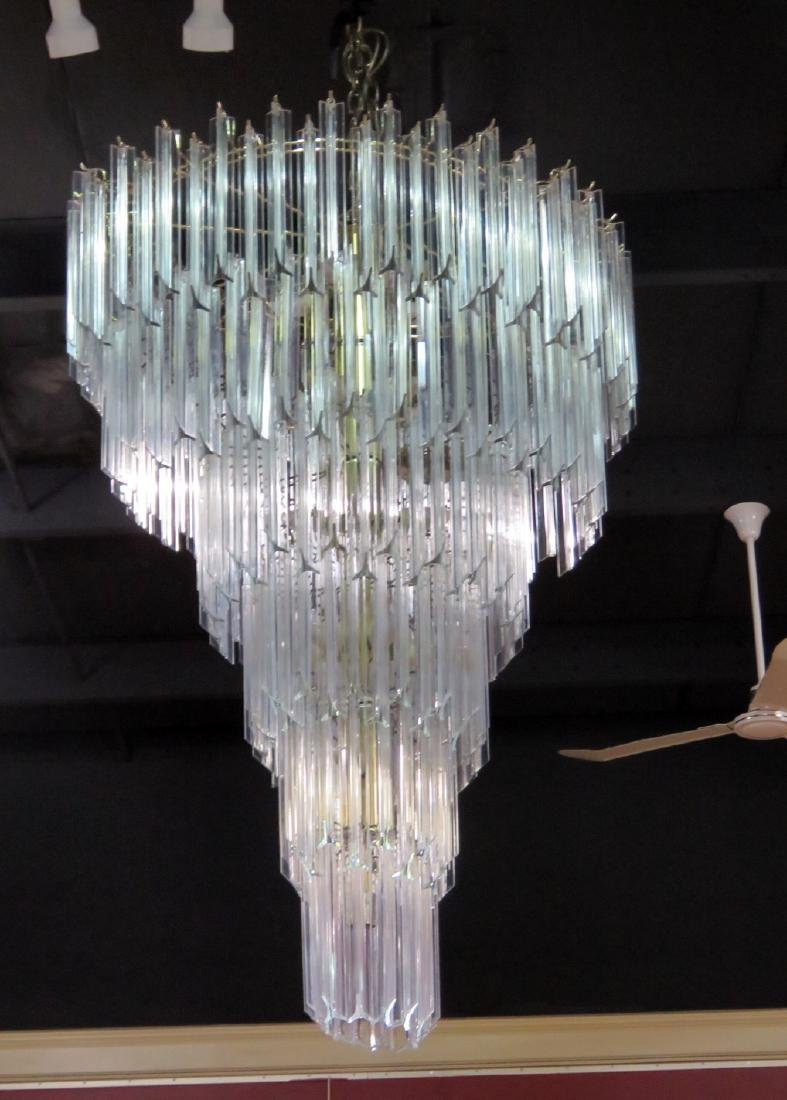 MCM LUCITE PRISM CHANDELIER from TRUMP PLAZA - 2
