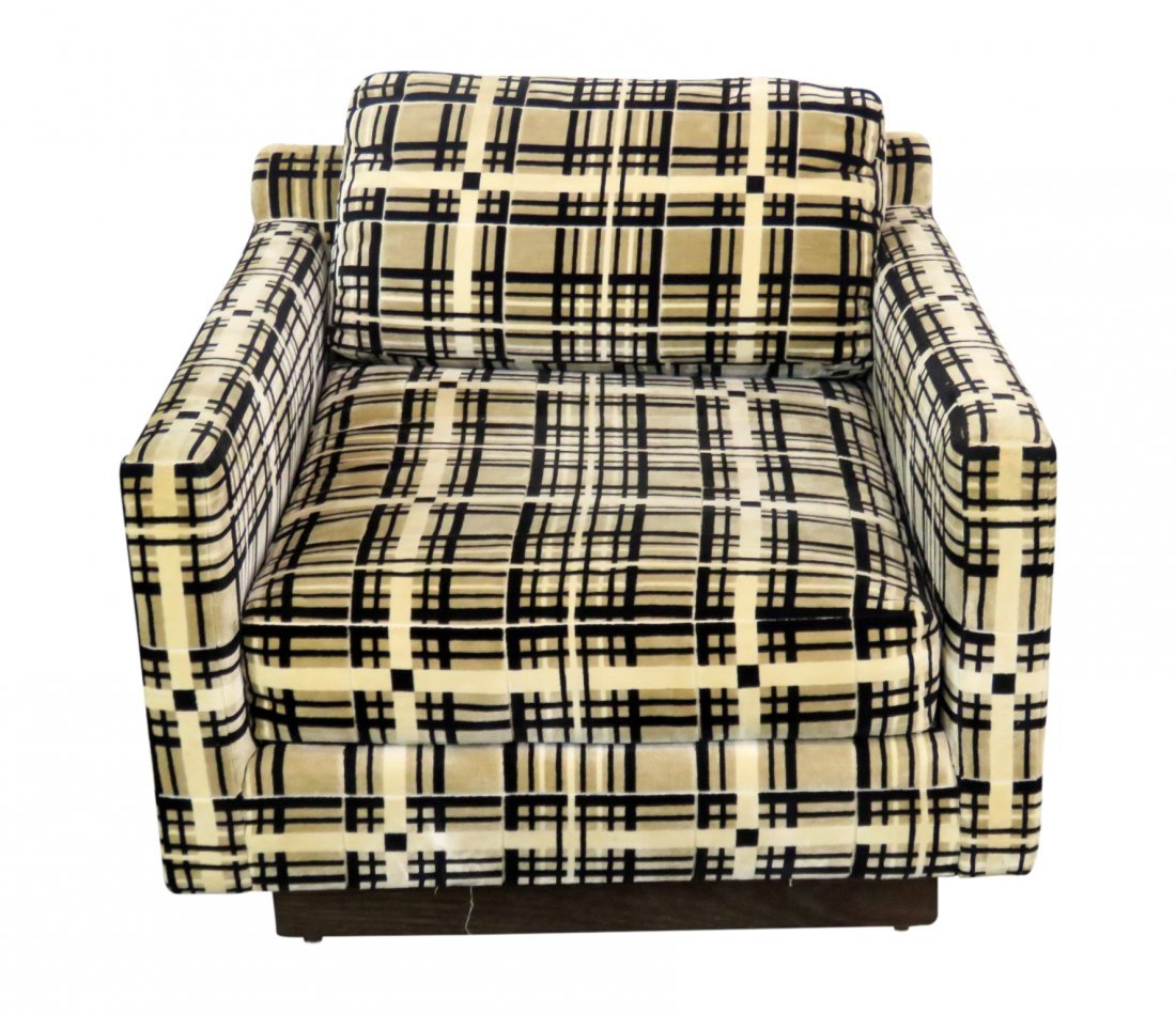 ARMSTRONG UPHOLSTERED CUBE CHAIR