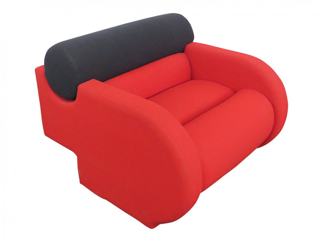 DIRECTIONAL UPHOLSTERED CLUB CHAIR