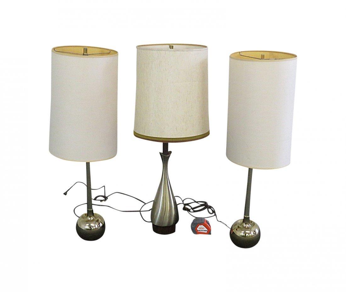 3 LAUREL LAMP COMPANY LAMPS