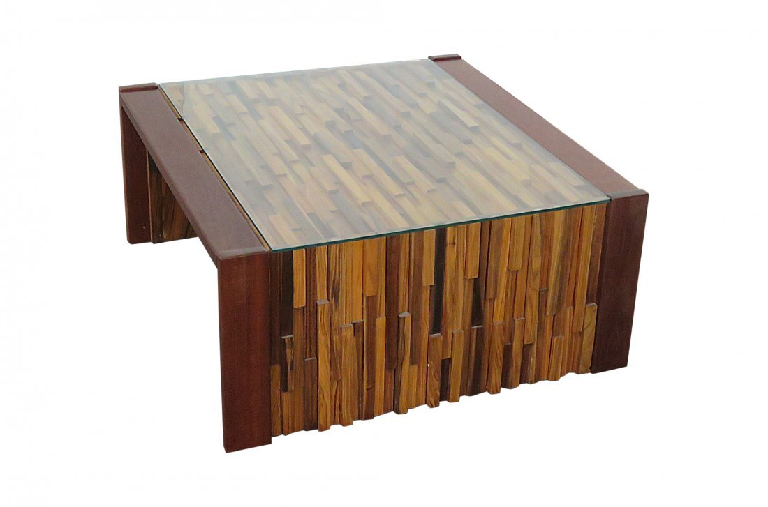 BRUTALIST STYLE END TABLE