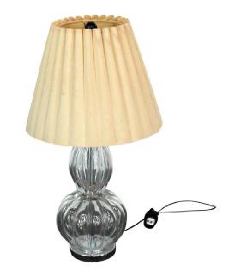 MID CENTURY MODERN CRYSTAL LAMP