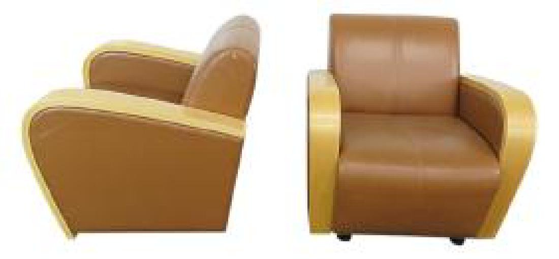 Pair CARTWRIGHT DECO STYLE CLUB CHAIRS