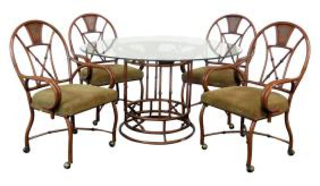 5 pc. FAUX BAMBOO DINING SET