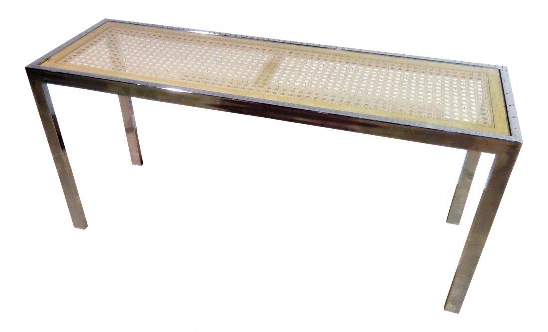 BAUGHMAN STYLE FLATBAR SOFA TABLE