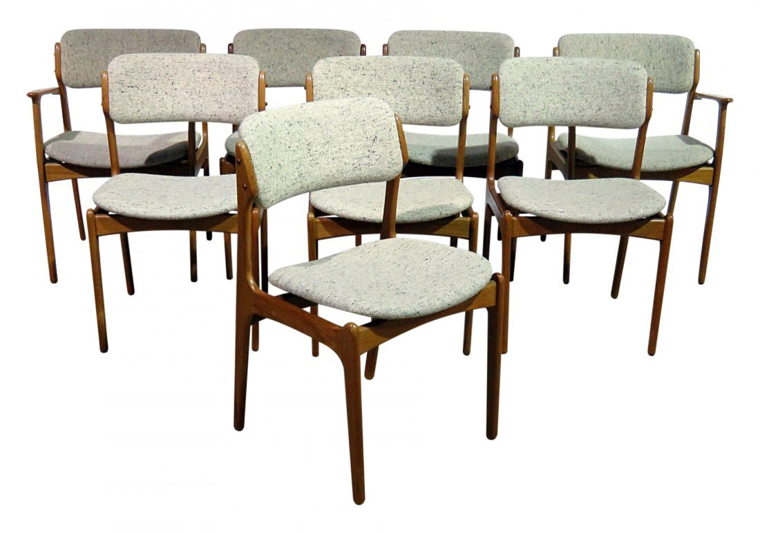 8 MOBLER TEAK DINING CHAIRS