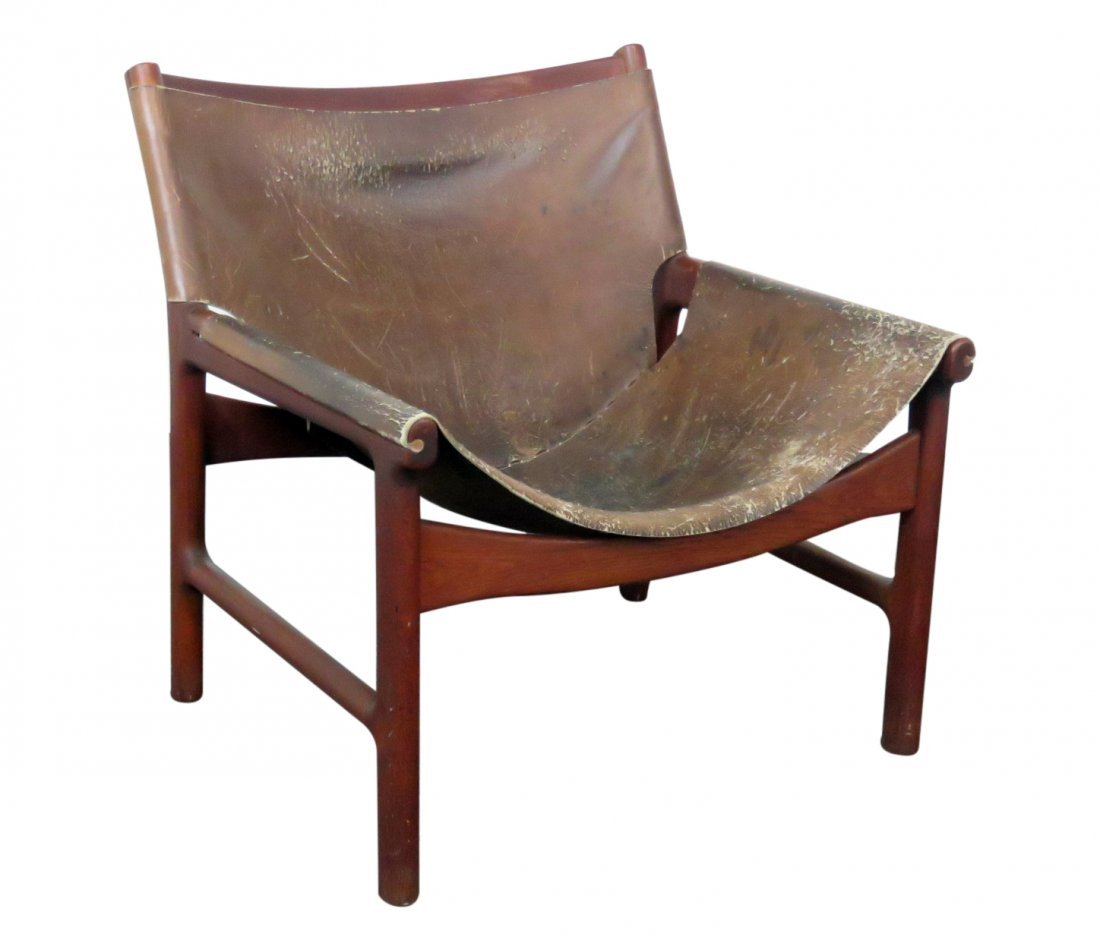 RUSTIC MODERN TEAK CHAIR