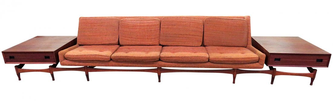 MCM DANISH SOFA with END TABLES