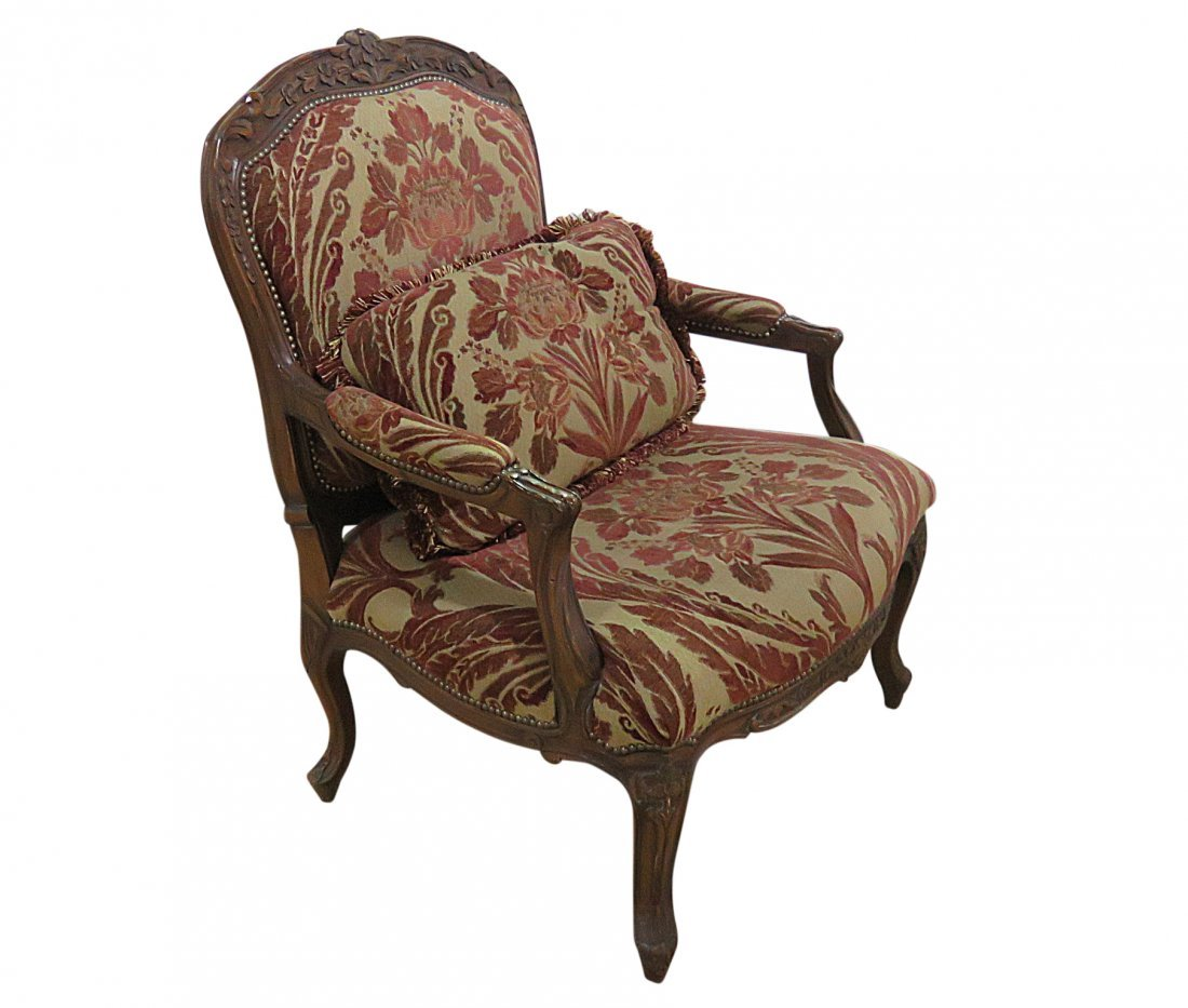 LOUIS XV STYLE OVERSIZED FAUTEUIL