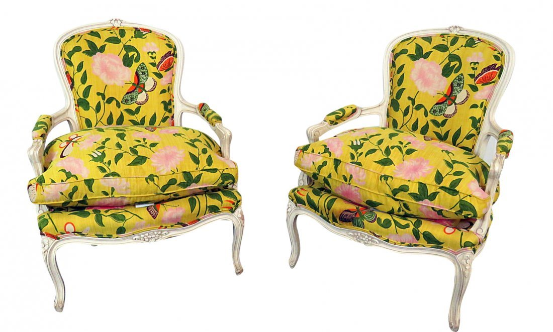 Pair FRENCH MODERN ARM CHAIRS