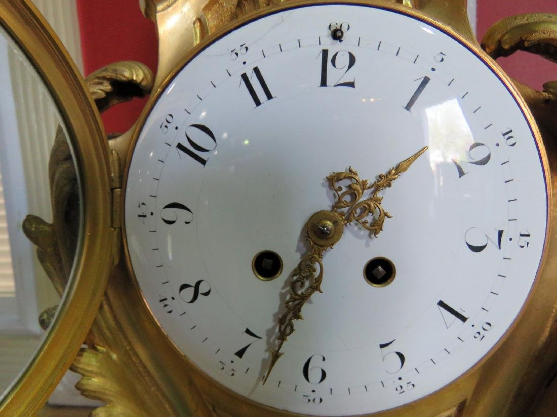 ANTIQUE FRENCH BRONZE CLOCK - 11