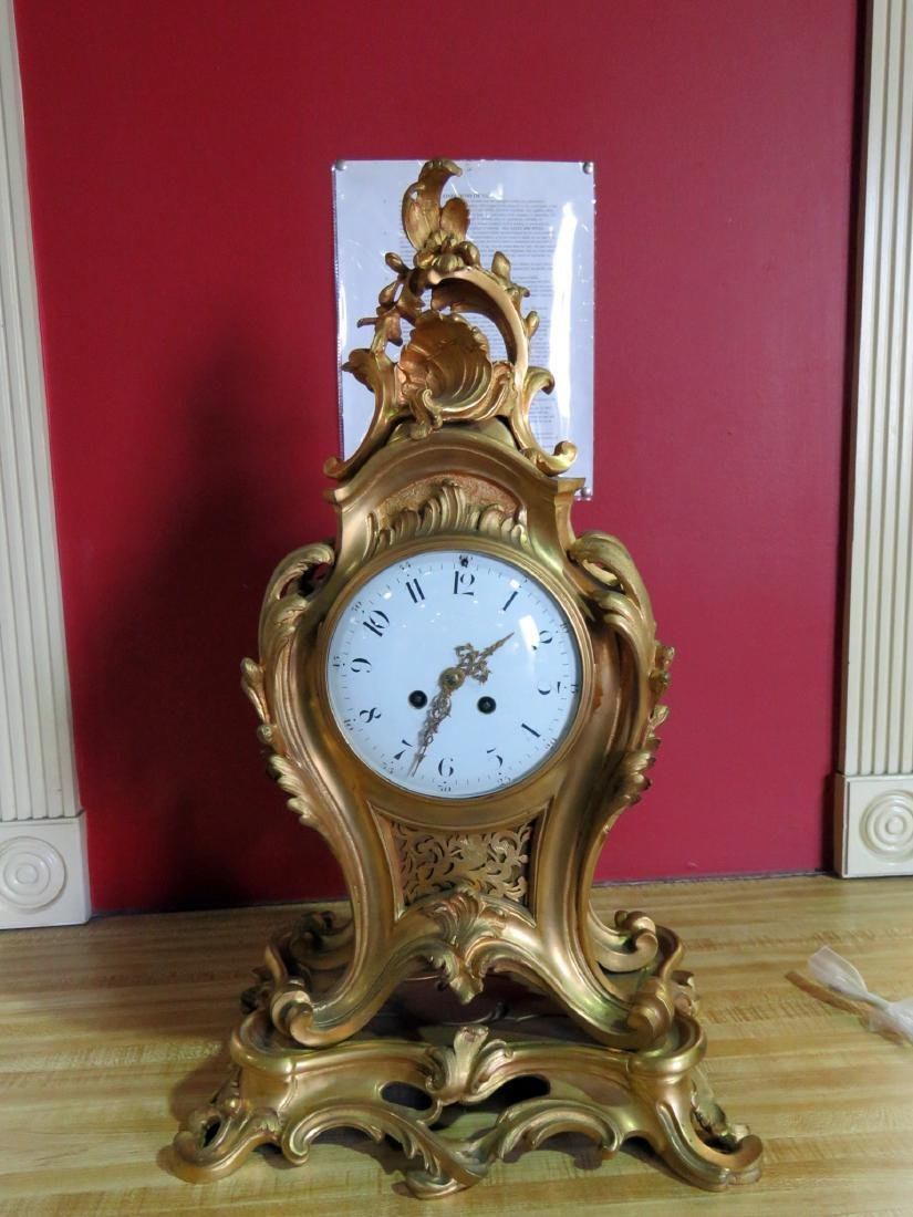 ANTIQUE FRENCH BRONZE CLOCK - 2
