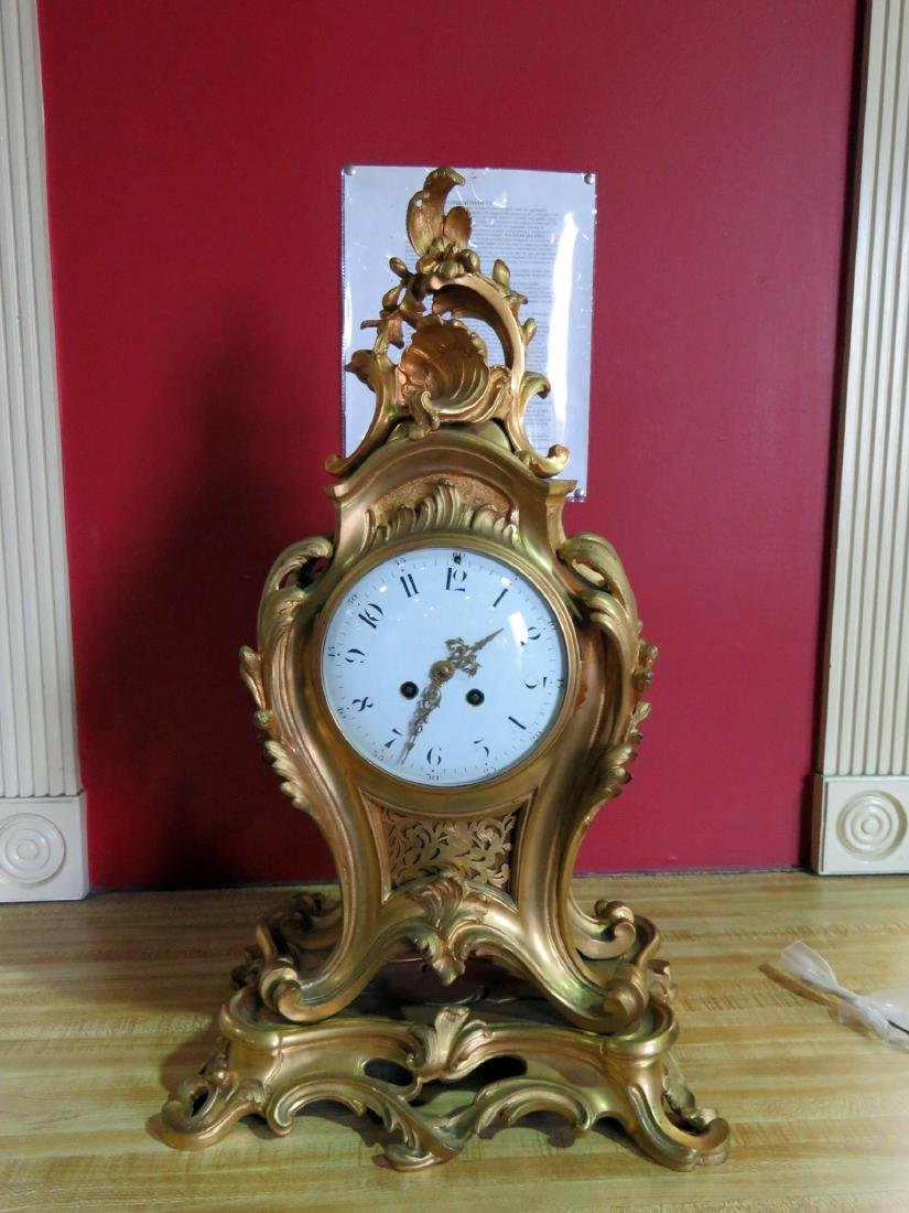 ANTIQUE FRENCH BRONZE CLOCK - 3