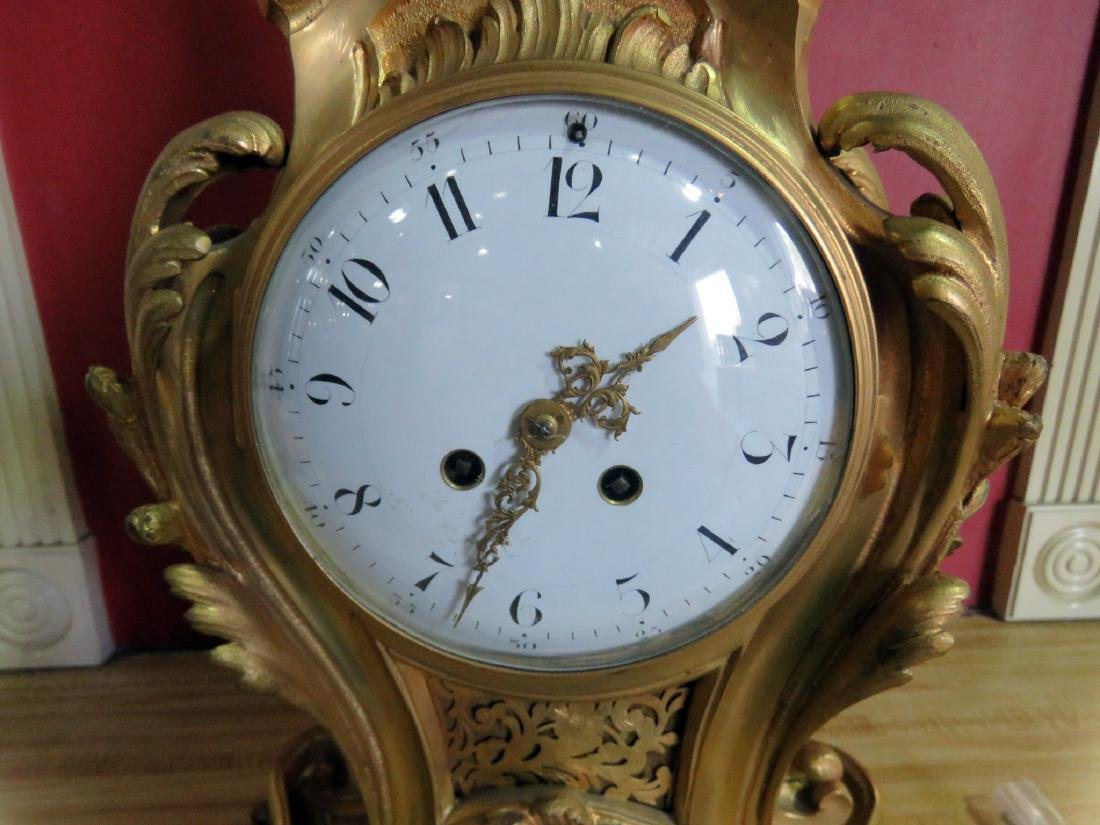 ANTIQUE FRENCH BRONZE CLOCK - 5