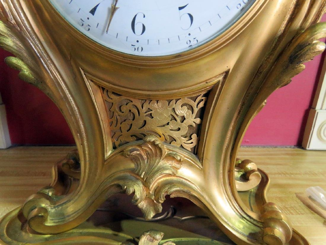 ANTIQUE FRENCH BRONZE CLOCK - 6