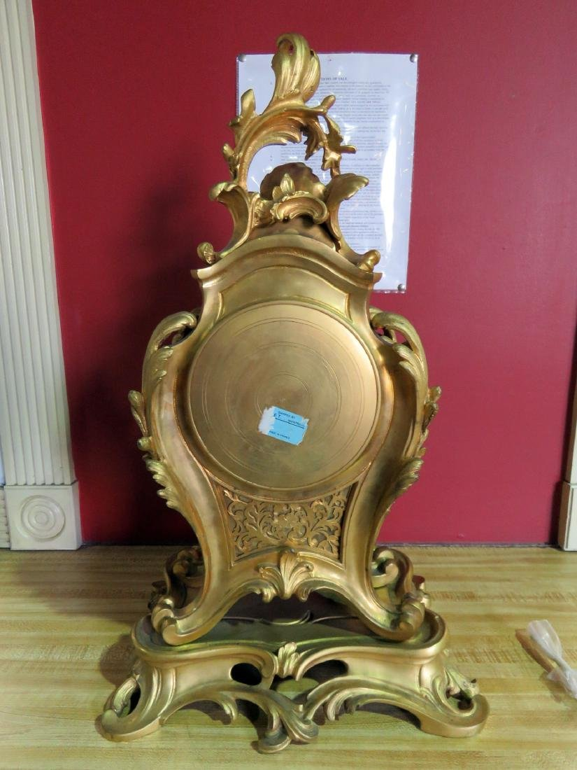 ANTIQUE FRENCH BRONZE CLOCK - 9