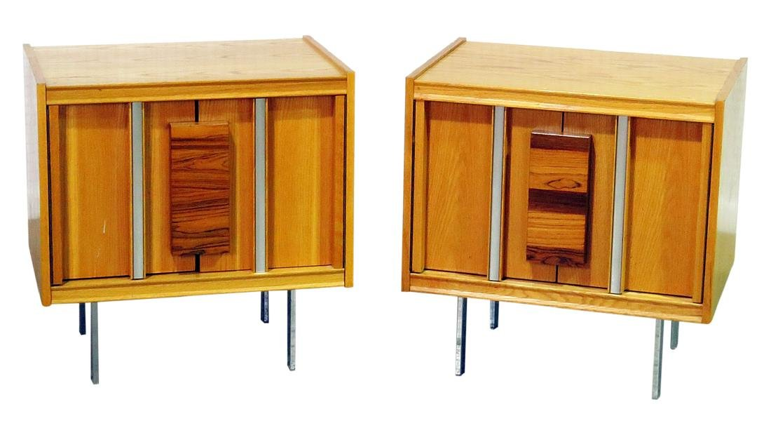 MILO BAUGHMAN STYLE COMPANION PAIR NIGHTSTANDS