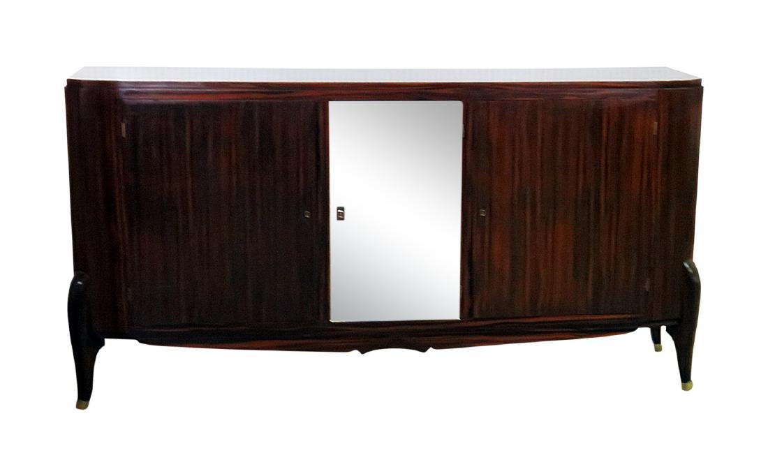 FRENCH DECO MIRRORED FRONT CREDENZA manner RUHLMANN