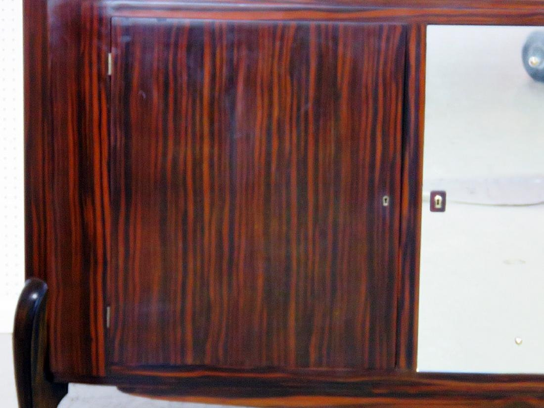 FRENCH DECO MIRRORED FRONT CREDENZA manner RUHLMANN - 3