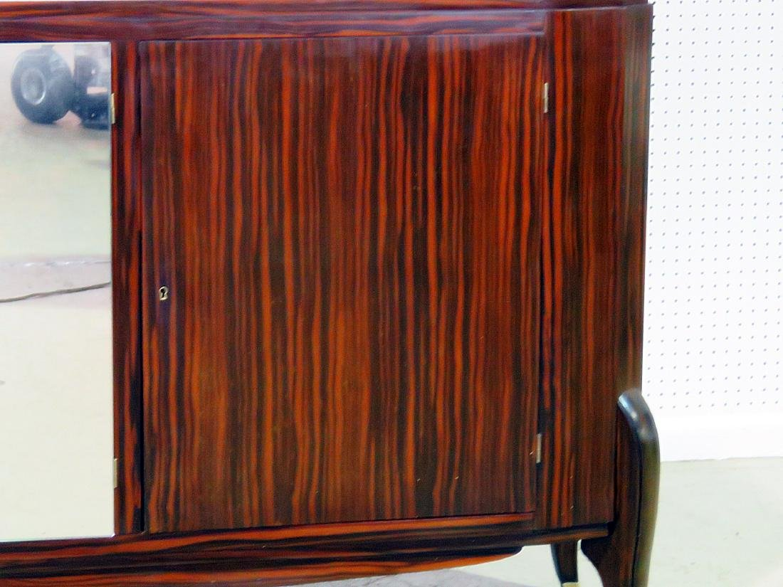 FRENCH DECO MIRRORED FRONT CREDENZA manner RUHLMANN - 4