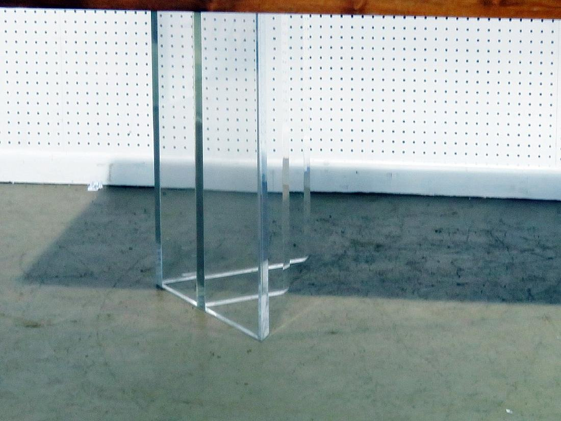 NEW HOPE SCHOOL MCM TABLE with LUCITE BASES - 2