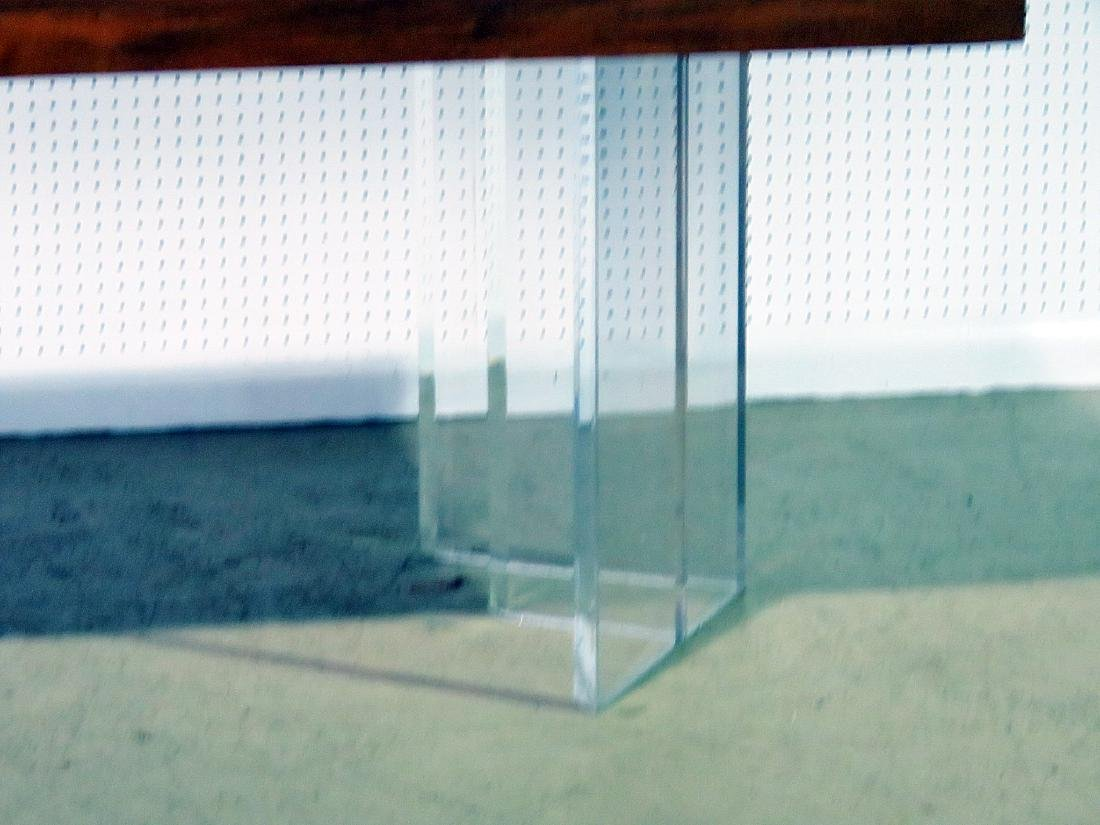 NEW HOPE SCHOOL MCM TABLE with LUCITE BASES - 3