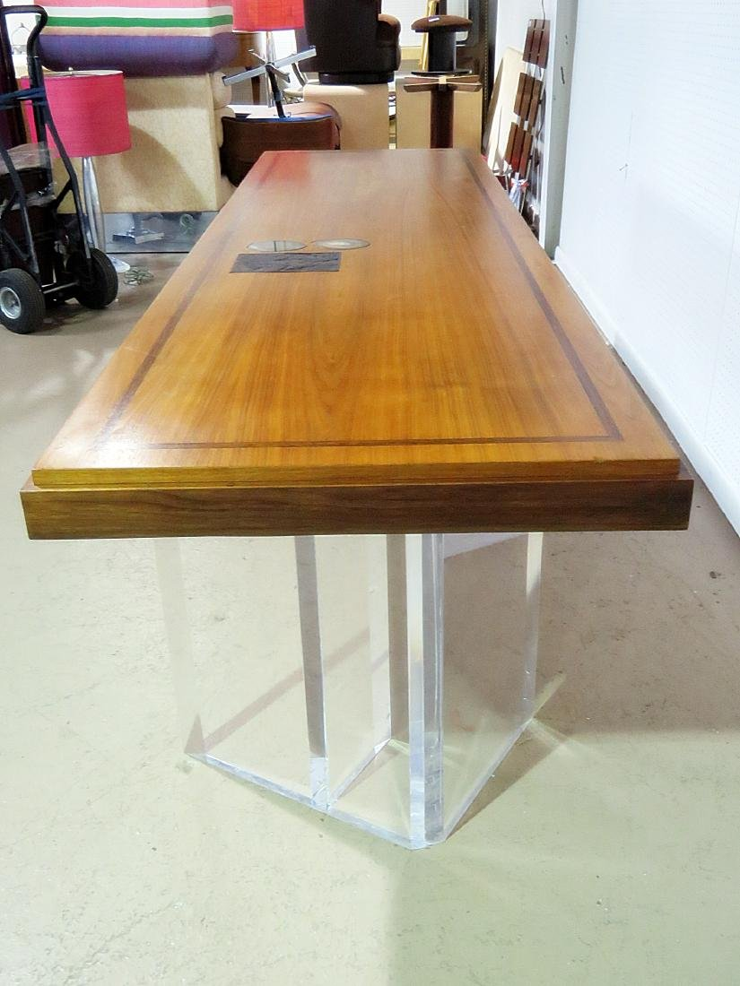 NEW HOPE SCHOOL MCM TABLE with LUCITE BASES - 7