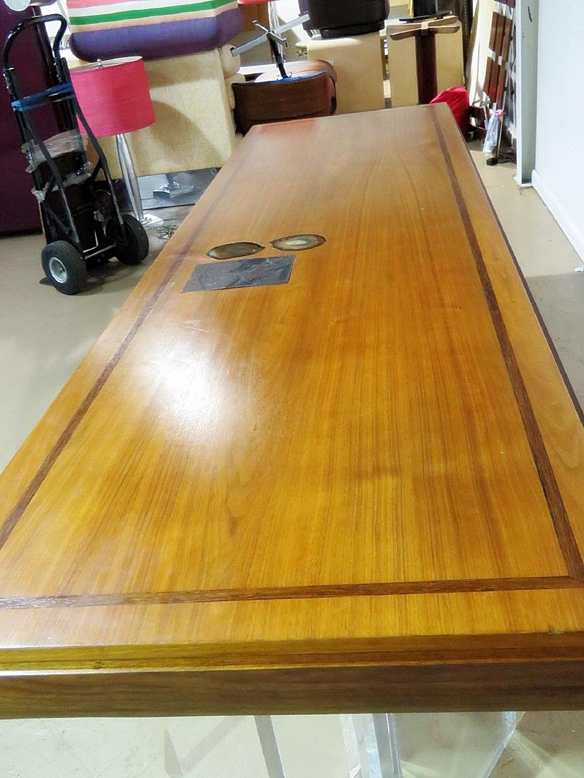 NEW HOPE SCHOOL MCM TABLE with LUCITE BASES - 8