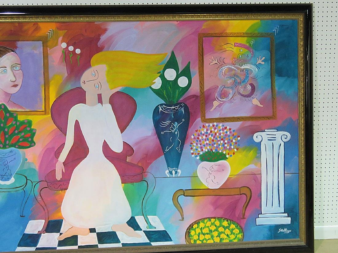 """""""AFTERNOON AT THE GALLERY"""" CONTEMPORARY PAINTING - 3"""