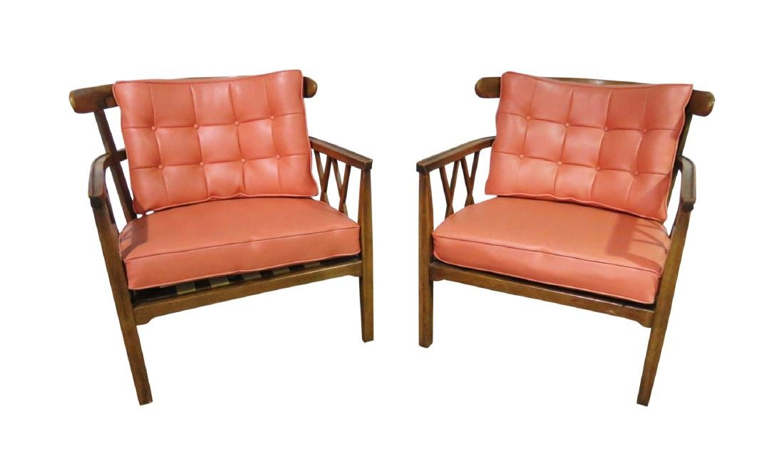 Pair MID CENTURY MODERN CLUB CHAIRS