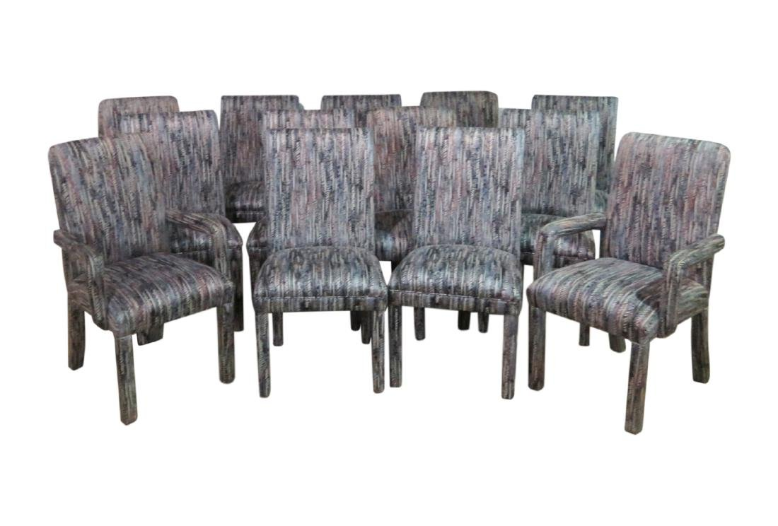 THIRTEEN PARSONS STYLE DINING CHAIRS